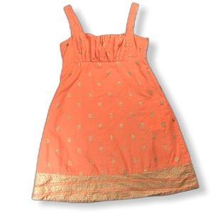 Anthro Maeve Orange Sundress